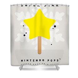 My Nintendo Ice Pop - Super Star Shower Curtain