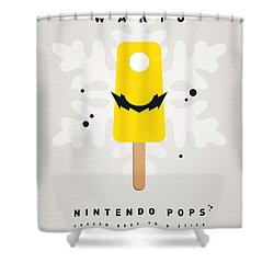 My Nintendo Ice Pop - Wario Shower Curtain by Chungkong Art