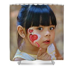 My Painted Face Shower Curtain by Kathleen Struckle