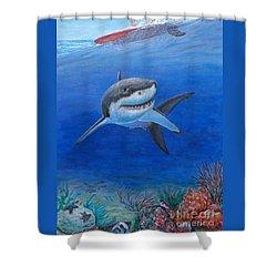 My Pet Shark Shower Curtain