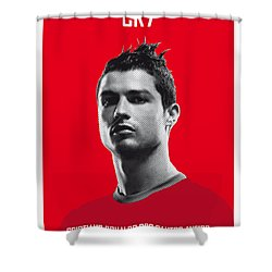 My Ronaldo Soccer Legend Poster Shower Curtain by Chungkong Art