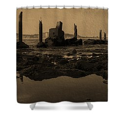 My Sea Of Ruins IIi Shower Curtain by Marco Oliveira