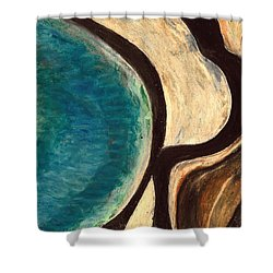 My Seascape I Shower Curtain by Carla Sa Fernandes