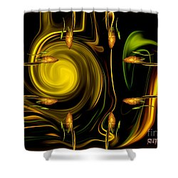 Shower Curtain featuring the digital art My Secret Garden - Abstract Art By Giada Rossi by Giada Rossi