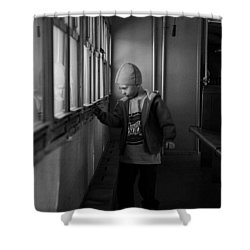 Shower Curtain featuring the photograph My Shadow by Jeremy Rhoades