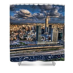 Shower Curtain featuring the photograph My Sim City by Ron Shoshani