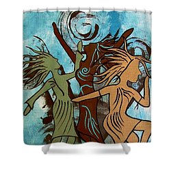 My Spirit Dances Shower Curtain