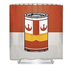My Star Warhols Luke Skywalker Minimal Can Poster Shower Curtain