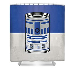 My Star Warhols R2d2 Minimal Can Poster Shower Curtain