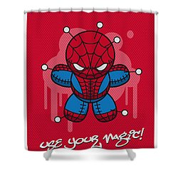 My Supercharged Voodoo Dolls Spiderman Shower Curtain