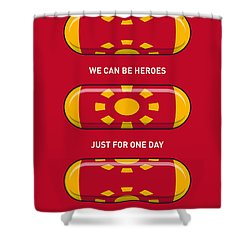 My Superhero Pills - Iron Man Shower Curtain by Chungkong Art