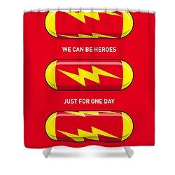 My Superhero Pills - The Flash Shower Curtain by Chungkong Art