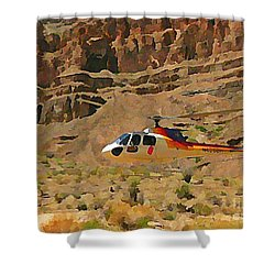 My Taxi To The Grand Canyon And Back Shower Curtain by John Malone