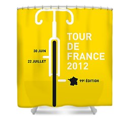 My Tour De France 2012 Minimal Poster Shower Curtain by Chungkong Art