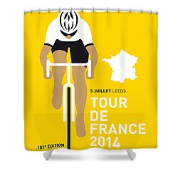 My Tour De France Minimal Poster 2014 Shower Curtain