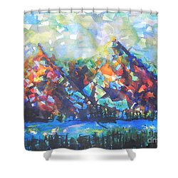 My Vision Say It Out Loud Shower Curtain by Chrisann Ellis