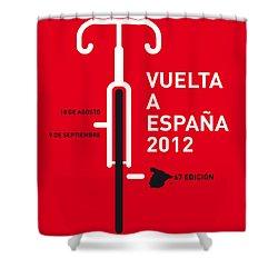 My Vuelta A Espana Minimal Poster Shower Curtain by Chungkong Art
