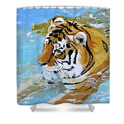 My Water Tiger Shower Curtain