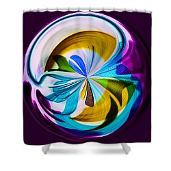 My World Shower Curtain by Sonya Lang