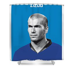 My Zidane Soccer Legend Poster Shower Curtain by Chungkong Art