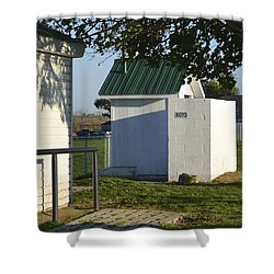 Boys Outhouse Shower Curtain