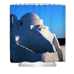 Shower Curtain featuring the photograph Mykonos Island Greece by Colette V Hera  Guggenheim