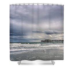 Myrtle Beach Fishing Pier Shower Curtain