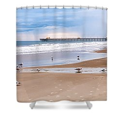 Myrtle Beach - Rainy Day Shower Curtain