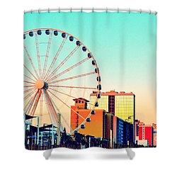 Myrtle Beach Skywheel Shower Curtain by Kelly Nowak