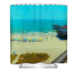 Shower Curtain featuring the photograph Myrtle Beach South Carolina by Alex Grichenko