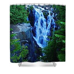 Myrtle Falls Shower Curtain by Jeff Swan