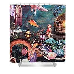 Mysteries Shower Curtain by Gail Kirtz