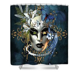 Mysteries Of The Mask 1 Shower Curtain
