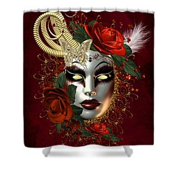 Mysteries Of The Mask 2 Shower Curtain