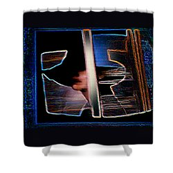 Mysterious Lady Shower Curtain by Hartmut Jager