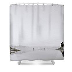 Still Waters Shower Curtain by Shaun Higson
