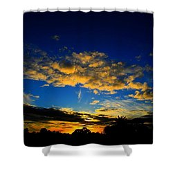 Shower Curtain featuring the photograph Mysterious Sunset by Mark Blauhoefer