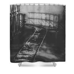 Mysterious Train Tracks Shower Curtain by Melanie Lankford Photography