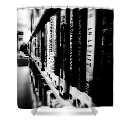 Shower Curtain featuring the photograph Mystery At The Library by Lucinda Walter