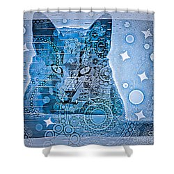 Mystery Cat  Shower Curtain