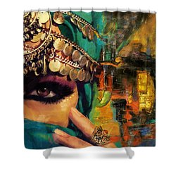 Mystery Shower Curtain by Corporate Art Task Force