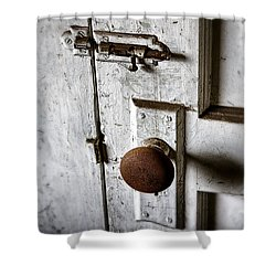 Mystery Door Shower Curtain by Caitlyn  Grasso