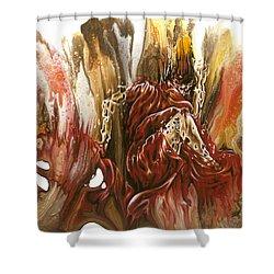 Mystery Shower Curtain by Karina Llergo
