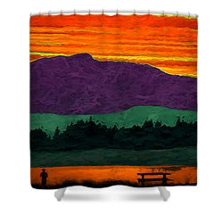Mystery Mountain Shower Curtain