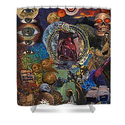 Mystery Of The Human Heart Shower Curtain