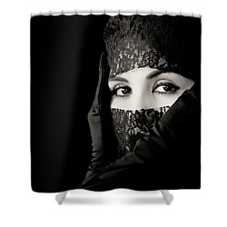 Mystery That Is Woman Shower Curtain by Hugh Smith