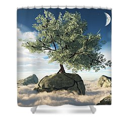 Mystery Tree Shower Curtain by Eric Nagel