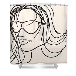 Mystery Woman Shower Curtain by Sotiris Filippou