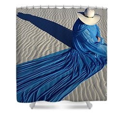 Mystic Blue 1 Shower Curtain by Bob Christopher