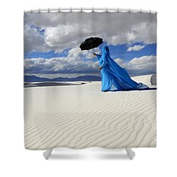 Mystic Blue 8 Shower Curtain by Bob Christopher